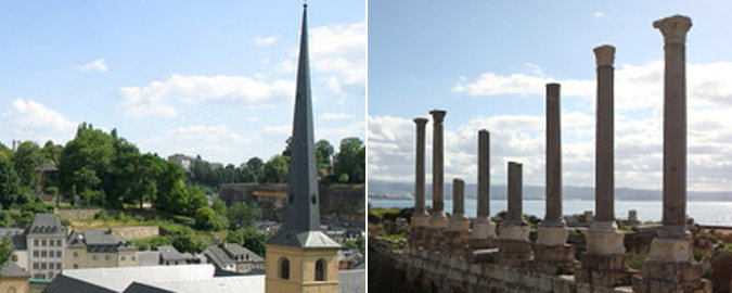Spire in Luxembourg; Columns in Lebanon