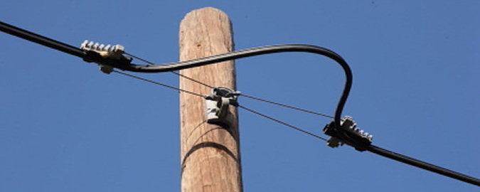 Lebanese telephone post and cable