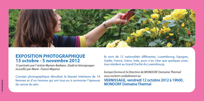 Invitation to Photographic Exhibition and Opening: Hymne à la beauté