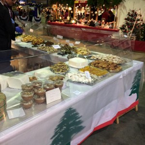 View of sweets and pastries at the Lebanese Stand at the Bazar International de Luxembourg