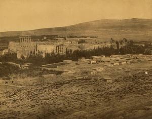 View of Baalbek 1890-1900 by Tancrède Dumas PD